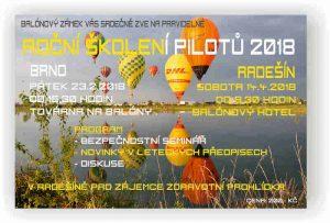 Roční školení pilotů v Balónovém hotelu Radešín 2018 @ Balónový hotel Radešín