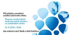 Otevření Muzea výroby horkovzdušných balónů @ Balonový Zámek Radešín